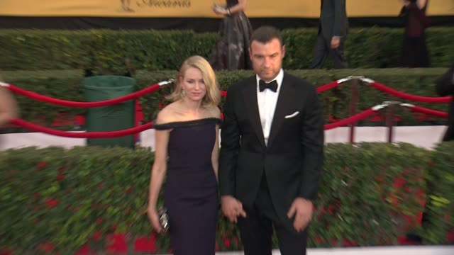 Naomi Watts and Liev Schreiber at the 21st Annual Screen Actors Guild Awards Arrivals at The Shrine Auditorium on January 25 2015 in Los Angeles...