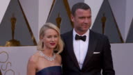 Naomi Watts and Liev Schreiber at the 88th Annual Academy Awards Arrivals at Hollywood Highland Center on February 28 2016 in Hollywood California 4K