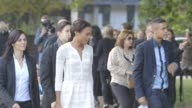 Naomie Harris at Burberry Prosum SS15 at Kensington Gardens on September 13 2014 in London England