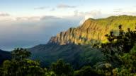 Napali Coast Kauai Kalalau Valley Shoreline Aerial Shot