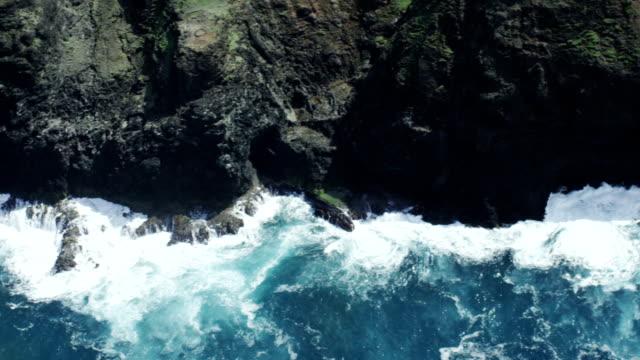 Napali Coast Kauai Shoreline Aerial Shot