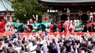 Naritasan Shinshoji Temple in Narita Chiba prefecture holds its customary annual Setsubun celebration on February 3 and Sumo's Yokozuna Hakuho and...