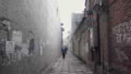 WS A narrow alley  in moring/hancheng,shaanxi,China
