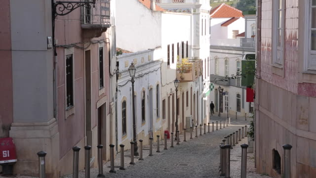 Narrow Street in Old Town, Silves, Algarve, Portugal, Europe