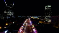 AERIAL: Nashville, Broadway at night