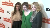 Nasim Pedrad Abby Elliott and Vanessa Bayer at PORTLANDIA Screening Hosted by IFC Red Carpet New York NY United States 1/5/2012