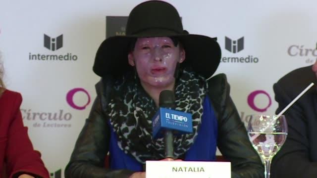 Natalia Ponce una de las casi 1000 victimas de ataques con acido desde 2004 en Colombia afirmo este jueves en el lanzamiento de un libro sobre su...