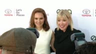 Natalie Portman and Debbie Levin at the 27th Annual Environmental Media Association Awards at Barker Hangar on September 23 2017 in Santa Monica...