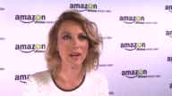 INTERVIEW Natalie Zea on the platform at Amazoncom Red Carpet Launch Party in Los Angeles CA