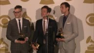 SPEECH Nate Ruess Andrew Dost Jack Antonoff on their start at The 55th Annual GRAMMY Awards Press Room 2/10/2013 in Los Angeles CA