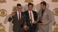 SPEECH Nate Ruess Andrew Dost Jack Antonoff on this year for them at The 55th Annual GRAMMY Awards Press Room 2/10/2013 in Los Angeles CA