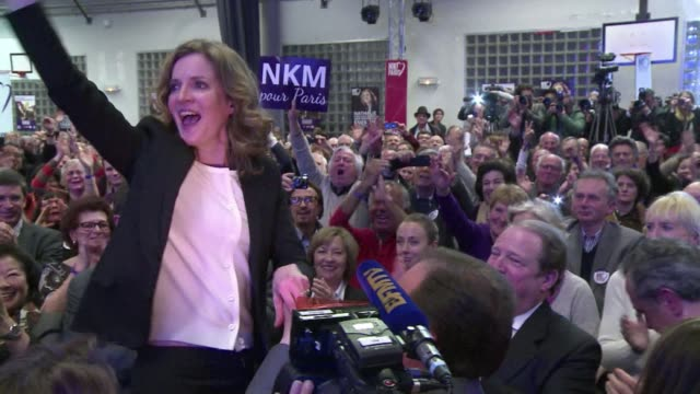 Nathalie Kosciusko Morizet the UMP candidate for the Paris mayoral election holds a rally in the French capital ahead of the second round of voting...