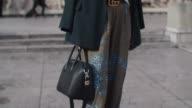 Nathalie Vandenberg wears Gucci shoes Essentiel pants a Gucci belt a Bershka top a Zara blazer a Givenchy bag Theo x Tim Van Steenbergen sunglasses...