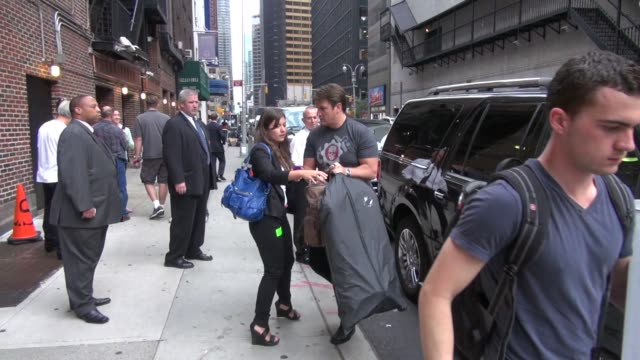 Nathan Fillion arrives at the Late Show in New York 9/22/11