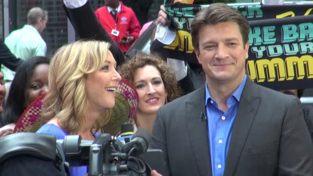 Nathan Fillion at the 'Good Morning America' studio Nathan Fillion at the 'Good Morning America' studi on May 04 2012 in New York New York