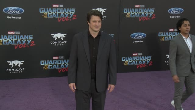 Nathan Fillion at the 'Guardians of the Galaxy Vol 2' Los Angeles Premiere at Dolby Theatre on April 19 2017 in Hollywood California