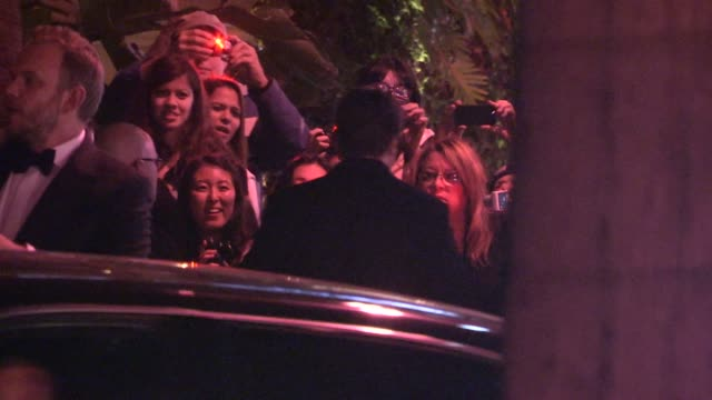 Nathan Fillion greets fans at the 2014 Golden Globes After Party at Sunset Tower in Los Angeles in Celebrity Sightings in Los Angeles