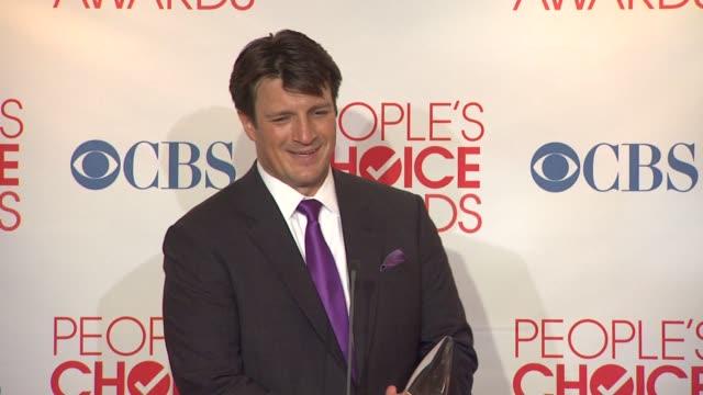 Nathan Fillion on winning Favorite TV Drama Actor and on Castle winning Favorite TV Crime Drama