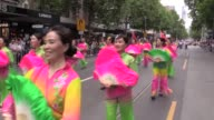National Day of Australia is celebrated in Melbourne Australia on January 26 2017 Many people attend celebration parade with their ethnic clothes as...