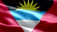 National flag Antigua & Barbuda wave Pattern loopable Elements