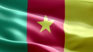 National flag cameroon wave Pattern loopable Elements