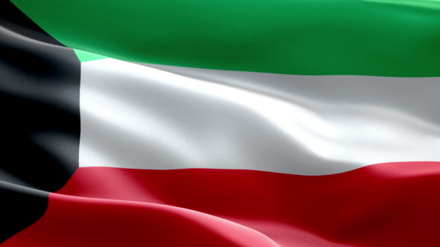 National flag Kuwait wave Pattern loopable Elements