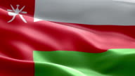 National flag Oman wave Pattern loopable Elements