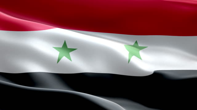 National flag Syria wave Pattern loopable Elements