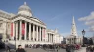 National Gallery, Trafalgar Square, Westminster, London, England, UK