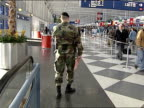 National Guard members at Chicago O'Hare Airport on March 02 2002 in Chicago Illinois