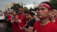 National League for Democracy NLD party supporters celebrate election results outside the party headquarters in Yangon Myanmar on Monday Nov 9 2015