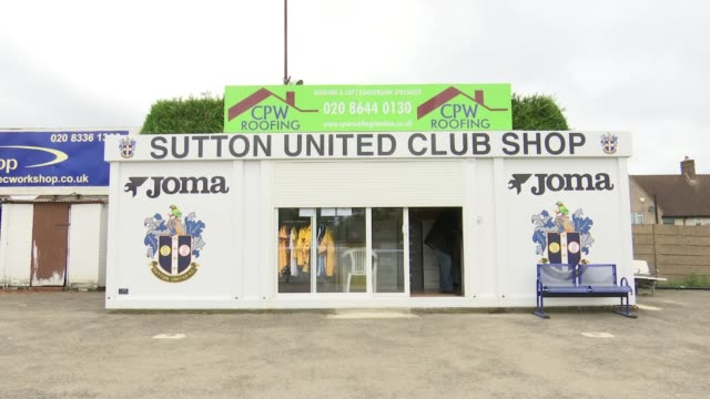 Sutton United reap financial rewards of FA Cup run New 'Sutton United Club Shop' with sign