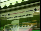 Lost ticket row Chris Smith comments LIB Sign in shop window 'Who'll win the jackpot'