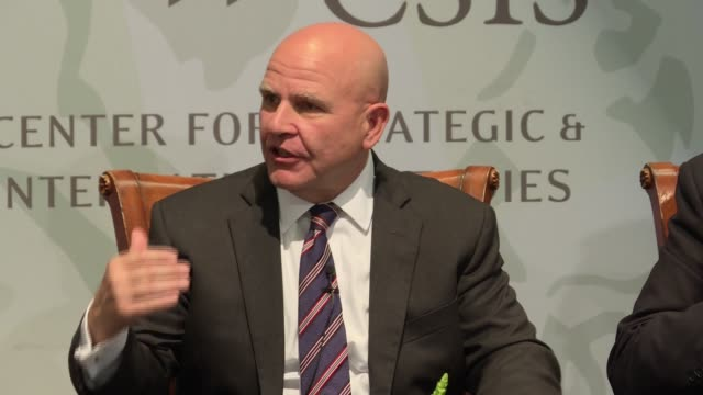 National Security Adviser and US Army General HR McMaster addresses strategic policy planning during an event to mark the 70th anniversary of the...