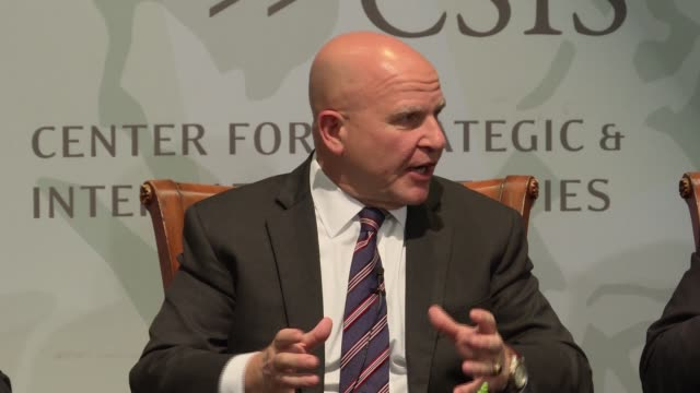 National Security Adviser and US Army General HR McMaster defends the Trump administration saying the president really does have a strategy during an...