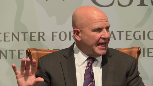 National Security Adviser and US Army General HR McMaster on what US President Donald Trump's foreign policy / international strategic approach as...