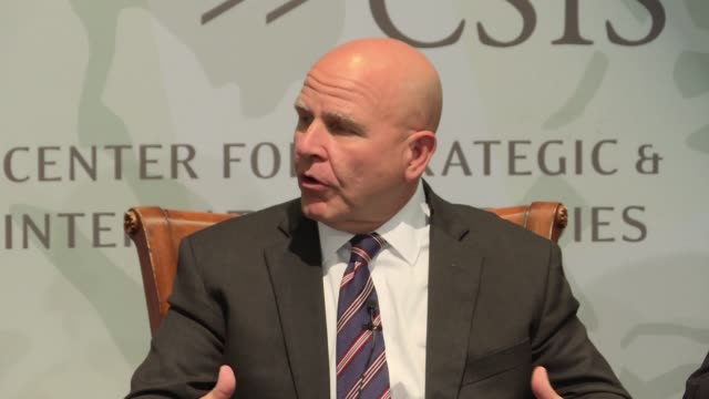 National Security Adviser HR McMaster and US Army General talks about how the national security council has devolved some responsibilities during an...