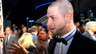 Celebrity red carpet arrivals and interviews Brian Friedman interview SOT On James Corden saying he probably takes ages to get ready says it was only...