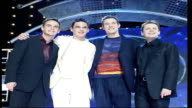 National Television Awards LIB Pop Idol presenters Ant and Dec posing with contestants Will Young and Gareth Gates LIB Big Brother presenter Davina...