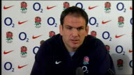 Johnson press conference ENGLAND London INT Martin Johnson press conference SOT Looks ahead to Six Championship match v Scotland