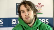 Wales press conference ahead of Ireland game Ryan Jones press conference SOT Looks ahead to the game v Ireland