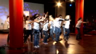 Nationwide dance for fitness campaign launched by Arlene Phillips ENGLAND London INT **Music heard SOT** Group of young dancers performing antiwar...