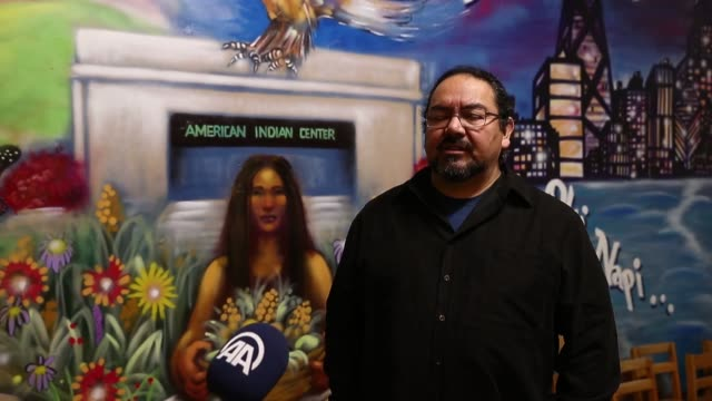 Native American and executive director Vincent Romero speaks during an exclusive interview in Chicago on December 07 2016 The interim Executive...