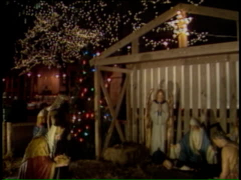 Nativity Scene on December 14 1991 in Chicago Illinois
