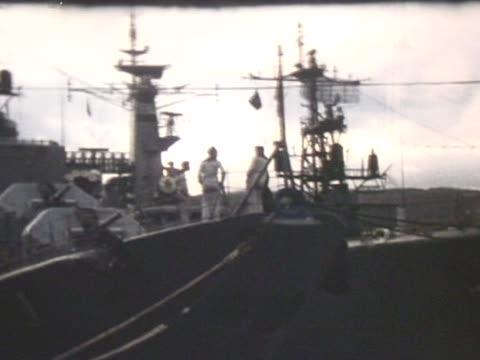 Nato ship in harbour