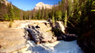 Natural Bridge in Kicking Horse River, Yoho National Park, Canada.