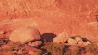 Natural structure in Arches National Park, pan right