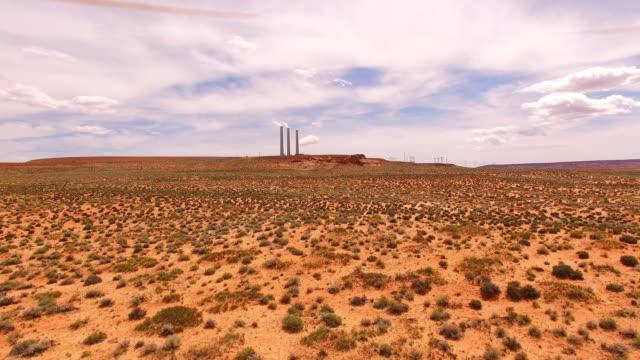AERIAL Navajo power station in Page Arizona