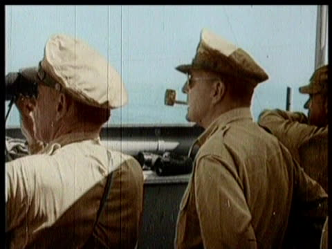 Naval Ships En Route To Leyte / Generals Prepare for Sea Battle With Japan / Soldiers Load Onto Ships / Narrated