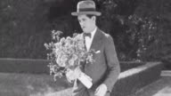 Navy Blues Silent Short / A man finds that his love has another man in her life / He dumps his flowers / He is run over by a delivery man on a bike /...